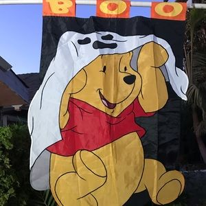 Winnie the Pooh large Halloween house flag